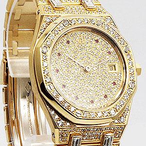 ギャランティなしの宝飾時計