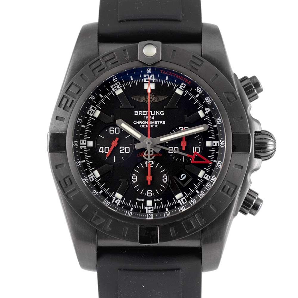 ブライトリング クロノマット ブラックスチール GMT MB0413 USED_6046-2