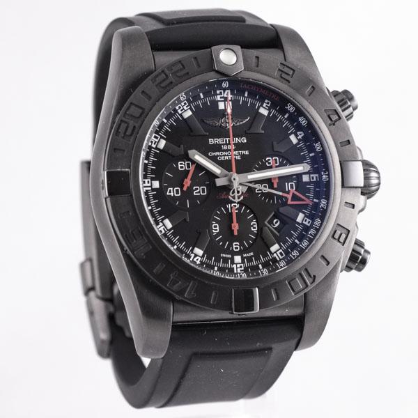 ブライトリング クロノマット ブラックスチール GMT MB0413 USED_6046-3