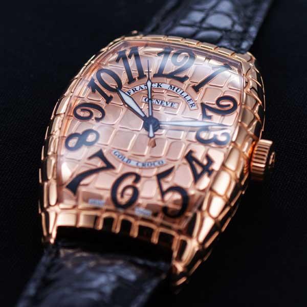 フランクミュラー トノー カーベックス ゴールドクロコ 8880SC GOLD CRO 5755