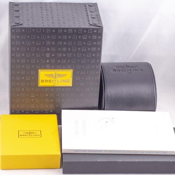 ブライトリング クロノマット ブラックスチール GMT MB0413 USED_6046-7